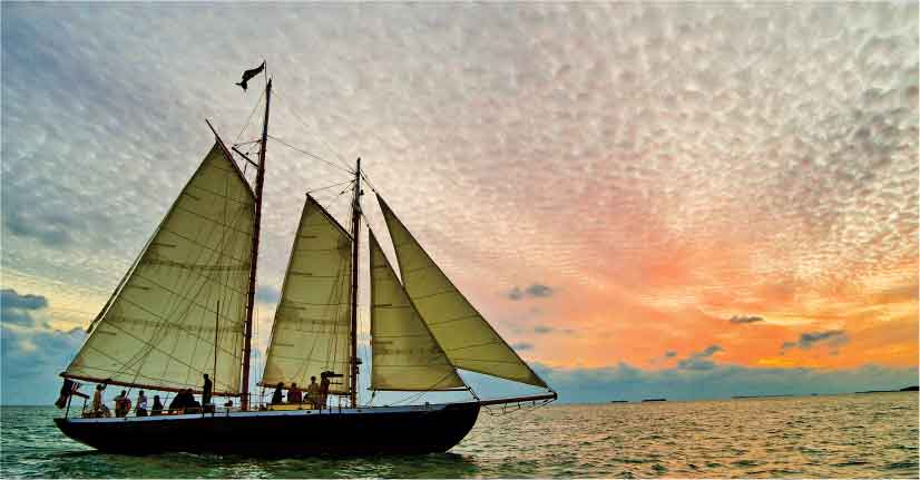 नाव किनारे पर बाँध