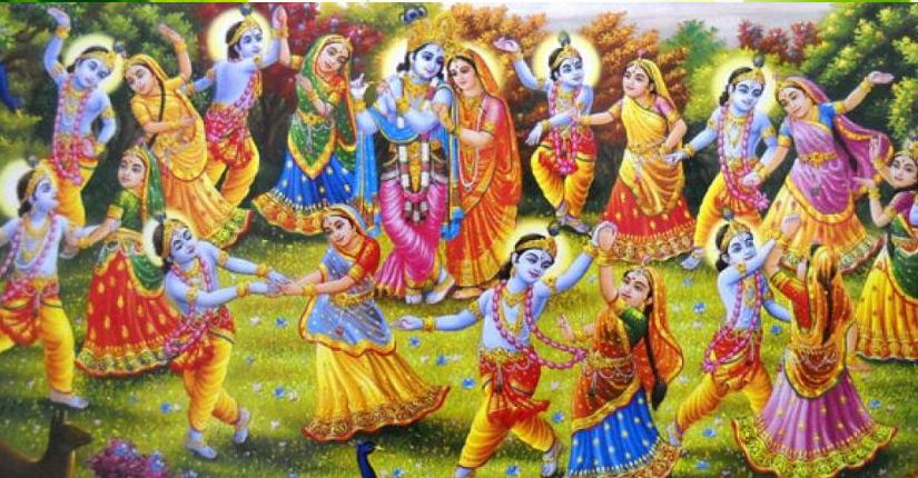 गोपी का प्रेम                                एक गोपी यमुनातट पर बैठकर प्राणायाम और ध्यान कर रही थी। वहाँ पर नारदजी वीणा को बजाते हुए आये तो नारदजी बड़े ही ध्यान से देखने लगे की गोपी कर क्या रही है?
