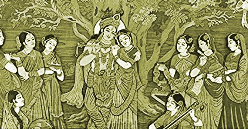 गोबर की टिपकी | एक समय कान्हा गौशाला में खेल रहे थे। गौशाला में एक गोपी गोबर के तसले भरकर बार-बार ले जा रही थी,