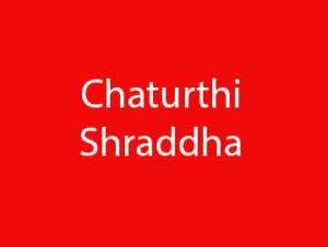 Chaturthi Shraddha