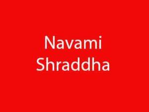 Navami Shraddha