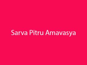 Sarva Pitru Amavasya